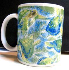 TURTLES of HAWAII Coffee Cup MUG 2006 Collectors Christmas Gift #Unbranded