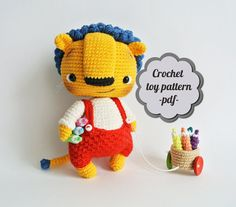 Crochet pattern amigurumi Bonya. Little lion pdf