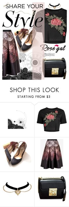 """""""Rosegal crop top"""" by marianazarova ❤ liked on Polyvore featuring Ted Baker"""