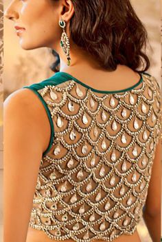 Saree / sari blouse with jewels OH MY GOD I WANT THIS SO BADLY