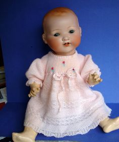 "20"" German Antique Baby Doll Rock A Bye Armand Marseille 351 Bisque Composition 