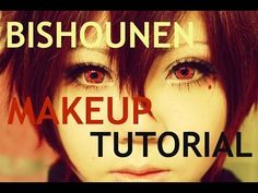 How to Look Bishounen [Makeup Tutorial for COSPLAY] - YouTube - This includes gluing and covering your eyebrows to draw new ones for costumes and the like.