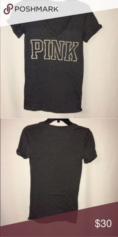 PINK t shirt Black t shirt ... V neck PINK Victoria's Secret Tops Tees - Short Sleeve