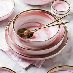 Pink Marble Ceramic Dinner Dish Plate Rice Salad Noodles Bowl Soup Plates Dinnerware Sets Home Tableware Kitchen Cook Tool Modern Dinnerware, Dinnerware Sets, Rustic Dinnerware, Classic Dinnerware, Pink Plates, Plates And Bowls, Brown Plates, Serving Plates, Marble Plates