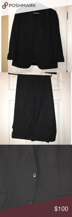 Michael Kors Men's Suit Very nice Michael Kors men's suit. Black. Excellent condition, just doesn't fit my husband anymore. Sizes: 42R (jacket) 34W x 32L (pants) Michael Kors Suits & Blazers Suits