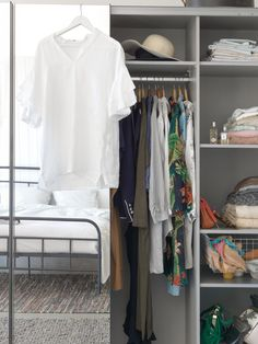 Micasa Schlafzimmer mit Schwebetürenschrank ORSON Nests, Closets, Wardrobe Rack, Furniture, Home Decor, Reach In Closet, Bedroom, Armoires, Decoration Home