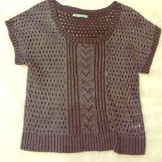 Sweater Black and silver short sleeved sweater Maurices Sweaters