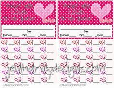 free Valentines bunco score sheets | Valentine's Bunco Score Sheet for your Bunco group!