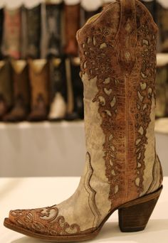 Rivertrail Mercantile - Corral Sand Cognac Laser Overlay Boots A2665, $259.99 (http://www.rivertrailmercantile.com/corral-sand-cognac-laser-overlay-boots-a2665/)