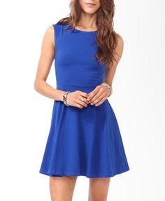 Curve Stitched Skater Dress | FOREVER21 - 2000049959
