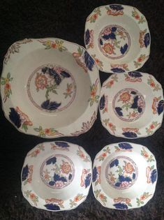 Alfred Meakin Serving bowl and 4 matching bowls
