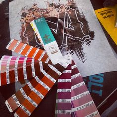Gotta get those #pantones on point...#color proofing is #essential round here #superiorink #superiorquality #fashion #apparel #design