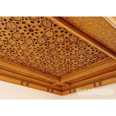 New York Moroccan decorative ceiling Wood Ceiling Panels, Wooden Ceiling Design, Wooden Front Door Design, Wooden Ceilings, Moroccan Ceiling Light, Moroccan Lamp, Moroccan Design, Home Ceiling, Ceiling Decor