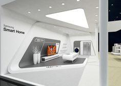 发一个三星的72平米展台设计