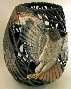 Visions On Gourds Carved and Sculptured Gourds...with a passion by Phyllis Sickles