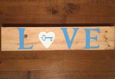Love with heart & key, Reclaimed Wood, Homemade Sign. key to heart, key, wedding, engagement, anniversary gift, homemade gift, heart