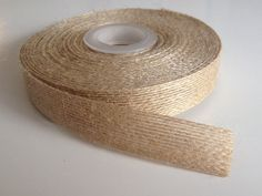 burlap ribbon 5/8 inches x 10 yards by PetalandForrest on Etsy, $7.00