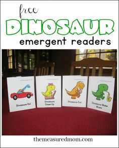 Free dinosaur emergent readers (funny!) from The Measured Mom