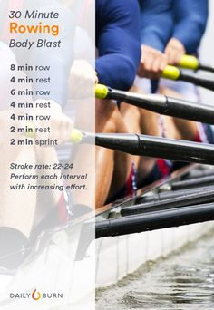 Love the rowing machine? (Or, love to hate it?) Get three strength-building rowing workouts to target your quads, glutes, back and core.