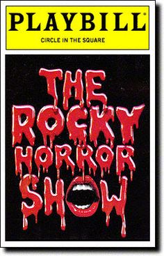 The Rocky Horror Show Playbill Covers on Broadway - Information, Cast, Crew, Synopsis and Photos - Playbill Vault