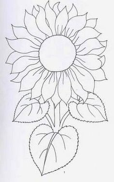 New Ideas Embroidery Sunflower Pattern Design – Handstickerei Hand Embroidery Patterns, Applique Patterns, Mosaic Patterns, Painting Patterns, Fabric Painting, Embroidery Designs, Sunflower Quilts, Sunflower Art, Sunflower Pattern