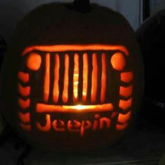 Jeep pumpkin. Heck yeah I'm doing this lol!!!!