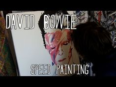 David Bowie Speed Painting Video