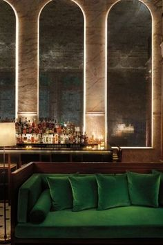 Interior Inspiration - Hotel Lounges | The decadent Lobby Bar at London Edition Hotel in London #theloungeco #hotel #hotellounge #lounge #architecture #interiordesign #stylish #elegant #bar #sofa #chair #interiorinspiration