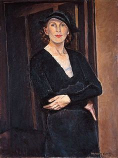 """""""Myself"""" (1933), a self-portrait by Paraskeva Clark (Russian-born Canadian painter, 1898-1986) - Oil on canvas - National Gallery of Canada, Ottawa"""
