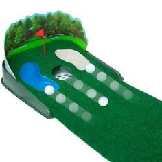 electric putt and return putting green hazards