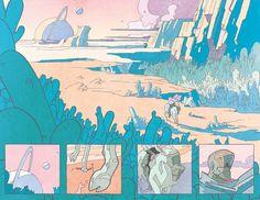 Some artwork from issue of Prophet I did. Landscape Illustration, Digital Illustration, Storyboard, Moebius Art, Comic Layout, Graphic Novel Art, Ligne Claire, Comic Panels, Wow Art