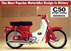 Reklame für Honda C 50