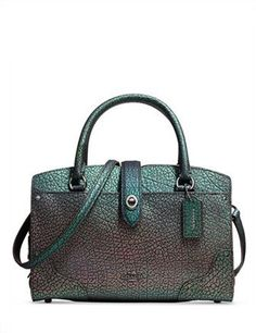 Coach Mercer Satchel 24 in Hologram Leather