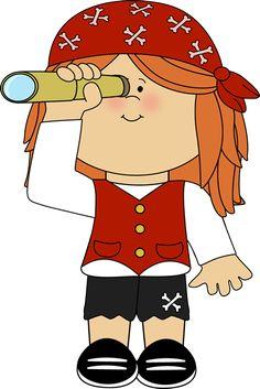 Mathématiques » fille pirate télescope couleur
