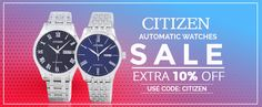 Mens Watches Online, Watches For Men, Citizen Watches, Citizen Eco, Watch Companies, Watch Sale, Automatic Watch, Coupon Codes, Coding