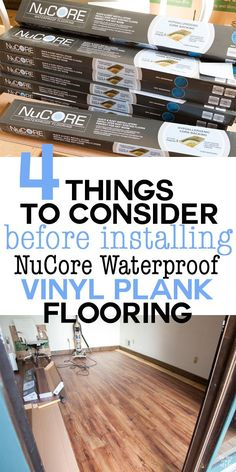 Floor installation tutorial for vinyl plank flooring. Before you install a vinyl plank floor in your home make sure you do these 4 things first. Once you do, the time to install the floor can be done in an afternoon.