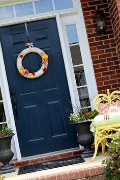 Front Door Porch Summer Decor On Pinterest Porch Decorating Summer