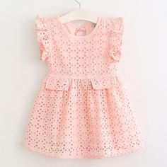 Cheap dresses for girls, Buy Quality summer dresses for girls directly from China girls spring dresses Suppliers: Hurave Girls spring dress hollow out kids cotton vestidos children fashion fly sleeve 3 color summer dress for girl Fashion Kids, Little Girl Fashion, Trendy Fashion, Fashion Spring, Girls Spring Dresses, Little Girl Dresses, Toddler Dress, Baby Dress, Kids Robes