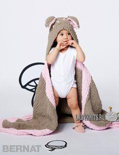 """Вязаное спицами детское одеяло """"Ой, олень!"""" от Bernat"""