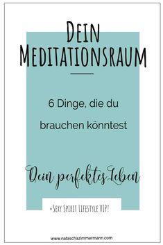 Meditationsraum gestalten - 6 Dinge, die du brauchen könntest #meditation #meditationsraum #meditieren  #spiritualität #spirituell Meditation Space, Mindfulness Meditation, Stress, Yin Yoga, Inspiration, Spaces, Hot Flashes, Sleep Problems, Meditation For Beginners