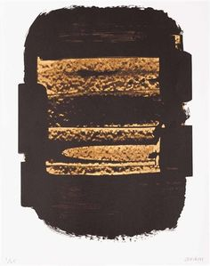 Artwork by Pierre Soulages, LITHOGRAPHIE 41, Made of Color lithograph on vellum
