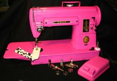 Hot pink singer 301 sewing machine