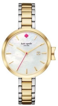 Sale $149.90 / Was $225 Women's Kate Spade New York Park Row Bracelet Watch | Round Dial Two Tone Silver Gold | Valid until August 6, 2017