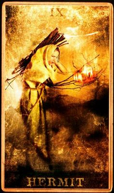 the hermit tarot - Principle of Introspection, Completion and space.