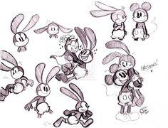 Oswald the Lucky Rabbit Old Disney, Disney Fan Art, Disney Love, Mickey Mouse Cartoon, Mickey Mouse And Friends, Epic Mickey, Disney Mickey, Disney And Dreamworks, Disney Pixar