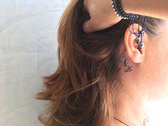 #ear tattoo #angel wings tattoo #delicate tattoo #chakana tattoo #seekingForMoreInk