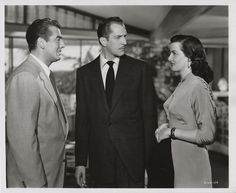 Victor Mature, Vincent Price and Jane Russell in The Las Vegas Story (1952) Directed by Robert Stevenson
