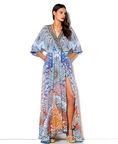 Wrap yourself in hues of Topkapi blues this Valentines Day  Concubine Realm Batwing Wrap Dress is available in store and via our e-boutique. With love xx  #camillawithlove #elduende #dress #blue #valentinesday #boho #bohochic #bohemian #gypsy #style
