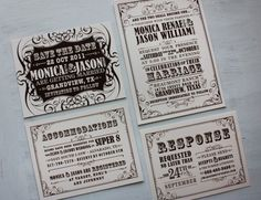 Brown-and-Cream-Vintage-Poster-Style-Wedding-Invitations-and-Save-the-Date-cards-1024x786