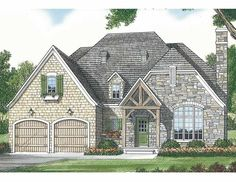Home Plan HOMEPW16726 - 1779 Square Foot, 3 Bedroom 2 Bathroom + French Country Home with 2 Garage Bays | Homeplans.com